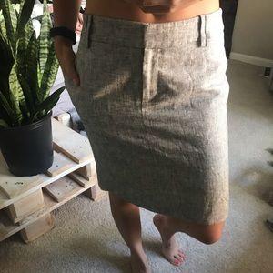 Grey/ silver work pencils skirt